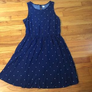 Cute blue dress with pattern!!